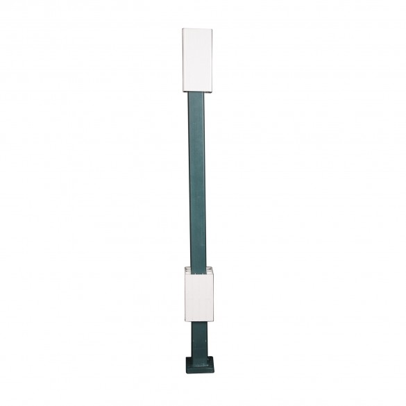 """Blu-Mount Angle Wizard 42"""" Heavy Duty Post For 5"""" Vinyl Railing w/ Top Leveling Guide - LMT 1367G"""
