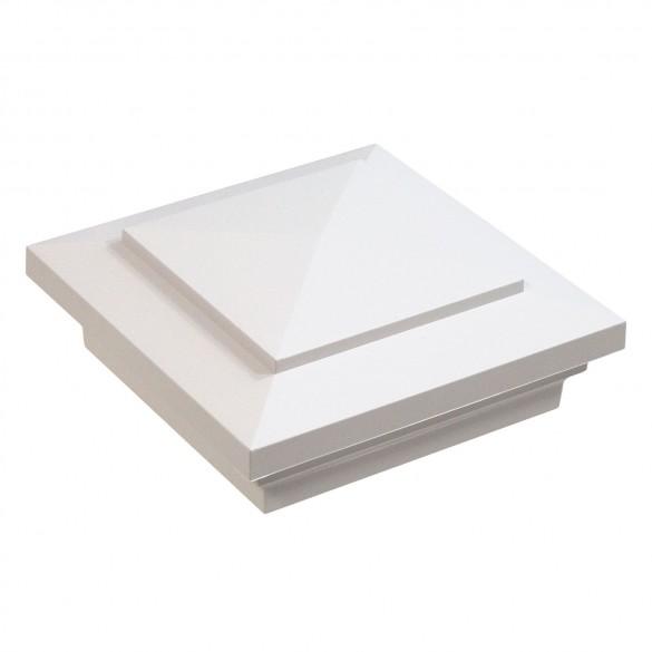 "LMT-1474W 4"" Sq. Cape May Vinyl Post Cap - White"