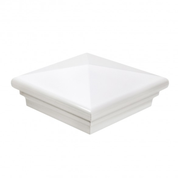 "LMT-1476W 4"" Sq. Neptune Vinyl Post Cap - White"