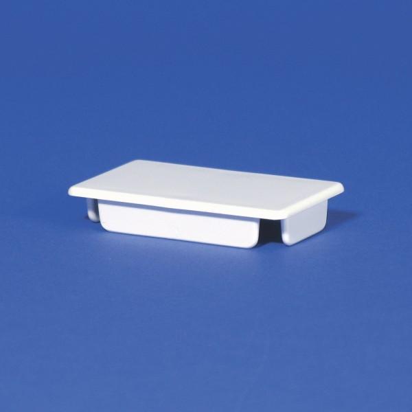 "2"" x 3 1/2"" Internal Vinyl End Cap (1.780"" x 3.300"" Inside Dimension) - LMT 1050 (White Shown)"