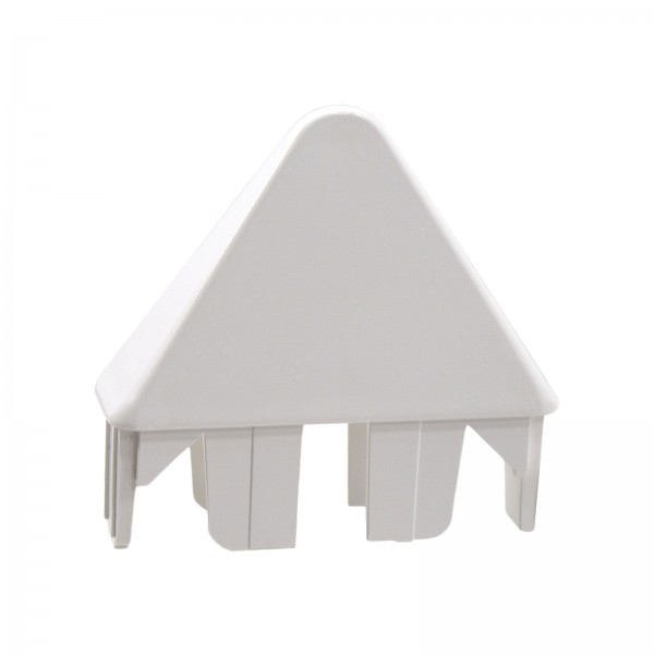 "LMT 1066AW 7/8"" x 3"" Sharp Picket Cap (Thin Wall) - White"