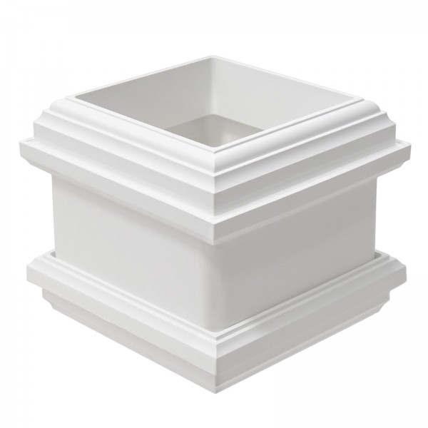 """LMT 1097-WHITE 4"""" Decorative Knuckle with Spacer - White"""