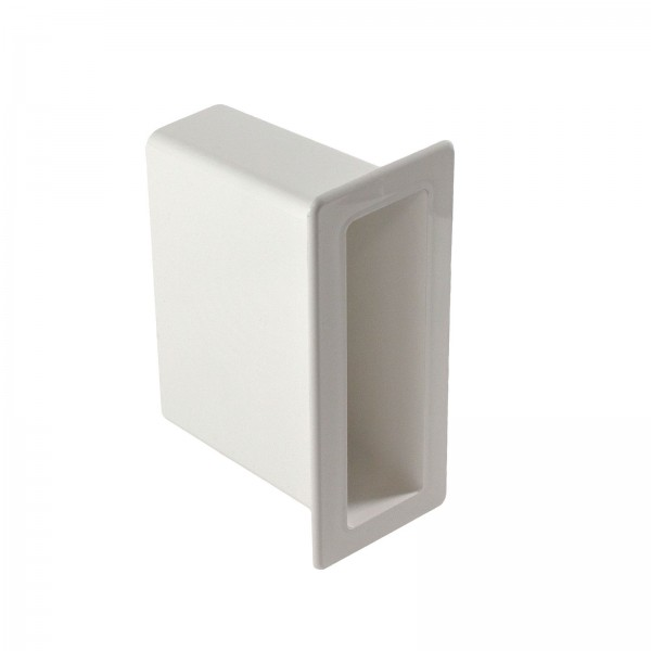 "LMT 1127-WHITE 1 1/2"" x 5 1/2"" x 4"" Vinyl Gate Socket - White"