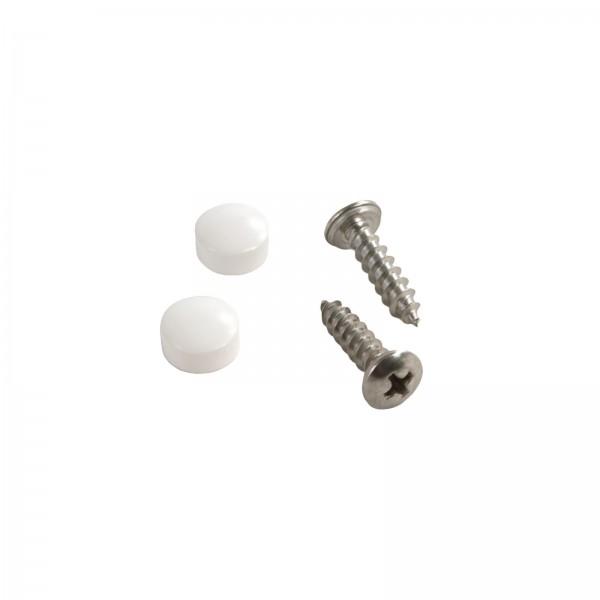"LMT 1141-500-WHITE #10 x 3/4"" Screw and Caps - White"