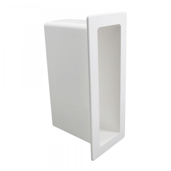 "LMT 1142-WHITE 2"" x 7"" x 4"" Vinyl Gate Socket - White"