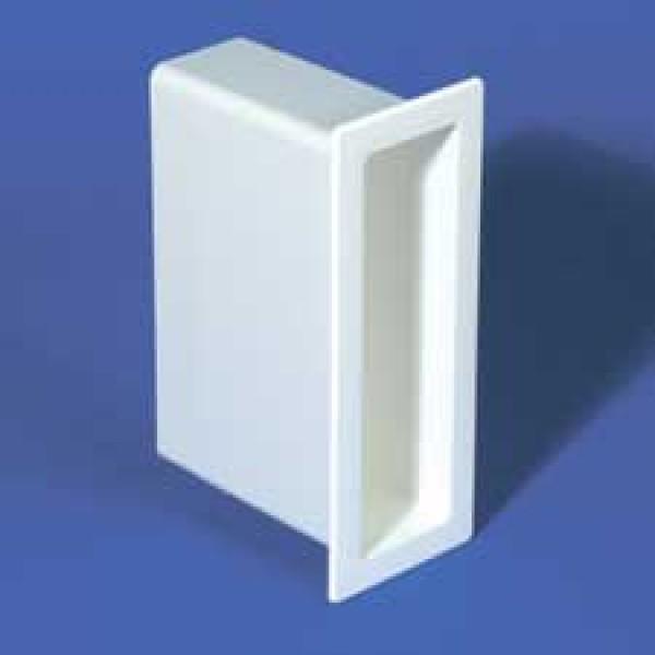 "LMT 1466-WHITE 2"" x 8"" x 5"" Vinyl Gate Socket - White"