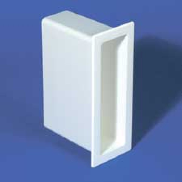 "LMT 1142-ALMOND 2"" x 7"" x 4"" Vinyl Gate Socket - Almond"