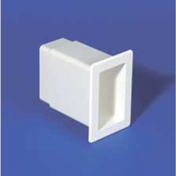 "LMT 1172-WHITE 2"" x 3 1/2"" x 5"" Vinyl Gate Socket - White"