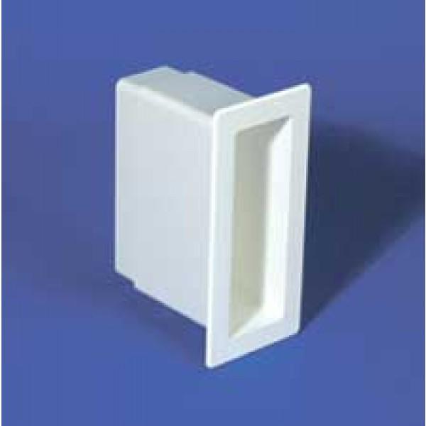 "LMT 1174-WHITE 2"" x 6"" x 5"" Vinyl Gate Socket - White"