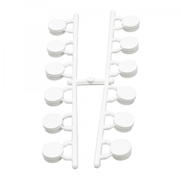 LMT 1181-WHITE Vinyl Hole Plugs for Standard Bracket Kits (Strip of 12) - White