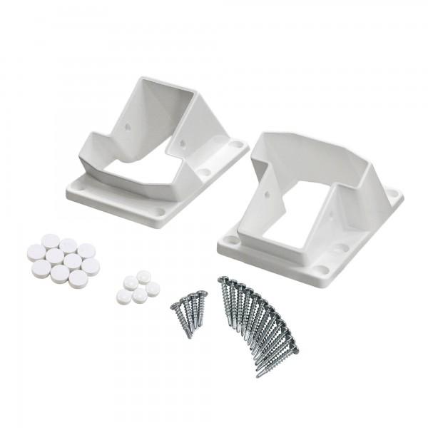 LMT 1277 T-Rail Stair Handrail Vinyl Bracket Kit (White Shown As Example)