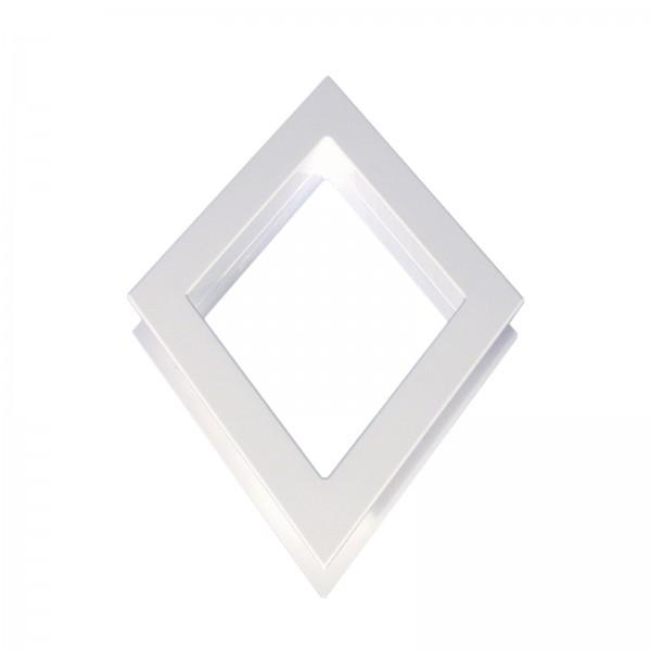 LMT 1296-WHITE Diamond Window Decorative Insert (White Shown)