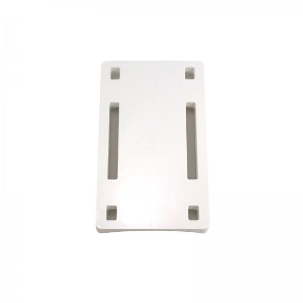 """LMT 1305B-WHITE 8"""" Column Adapter for Stair Bracket - White"""