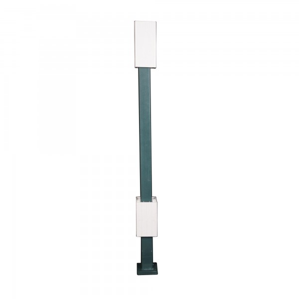 "Blu-Mount Angle Wizard 42"" Heavy Duty Post For 5"" Vinyl Railing w/ Top Leveling Guide - LMT 1367G"
