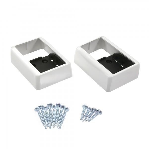 "LMT 1393-WHITE 2"" x 3 1/2"" Covered Handrail Bracket Kit (2 Piece) - White"