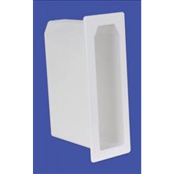 "LMT 1424-WHITE 1 3/4"" x 7"" x 5"" Nexus Vinyl Gate Socket - White"