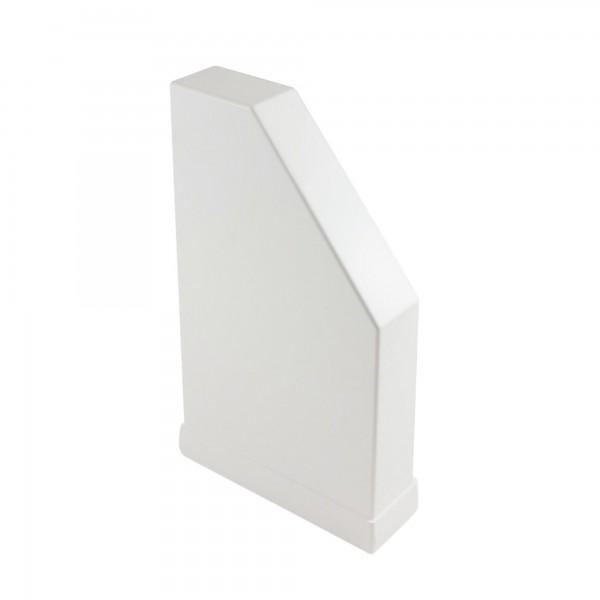 "2"" x 8"" Classic Pergola End Cap - External - LMT 1702W - White"