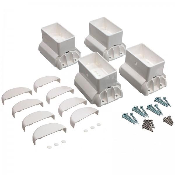 """2"""" x 3.5"""" Angle Wizard Horizontal Porch Bracket Kit - (4pk) - LMT 1718W - White"""