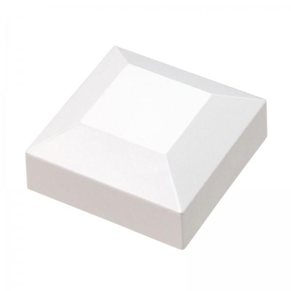 """2"""" Sq. Vinyl Post Cap For Aluminum Post (White Shown)"""