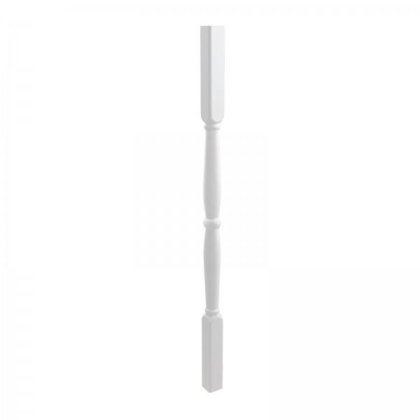 """LMT 3220-32.0-WHITE 1 1/2"""" Sq x 32"""" Classic Thermo Form Vinyl Spindle - White"""