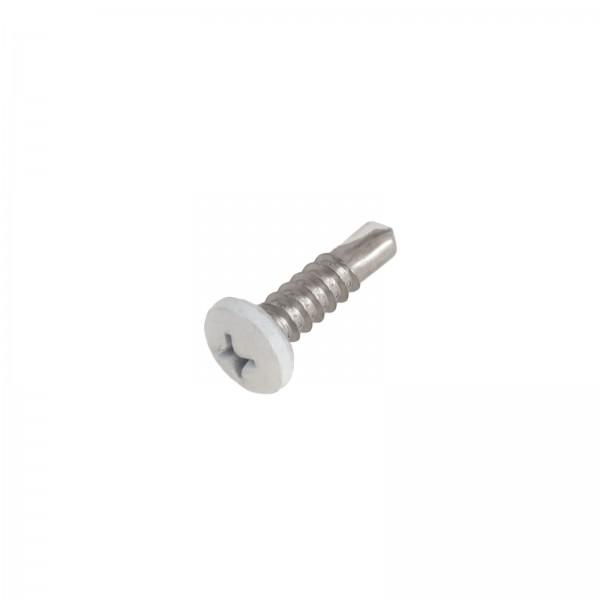 "LMT 4022-WHITE #10 x 3/4"" Self Drilling Screw - White"