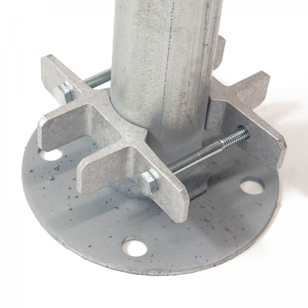 """Bufftech 5"""" x 5"""" Post EZ Set Brackets for 1-7/8"""" or 2"""" Round Post (Post Not Included)"""