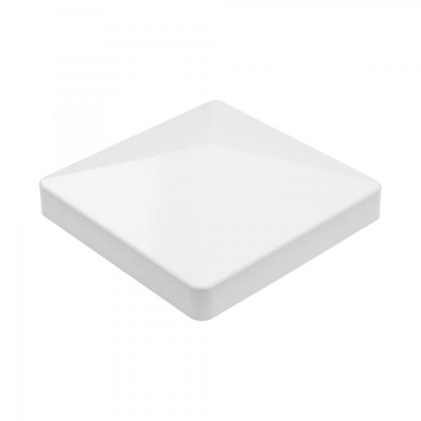 "LMT 1003W 4"" x 4"" Flat Vinyl Post Cap - White"