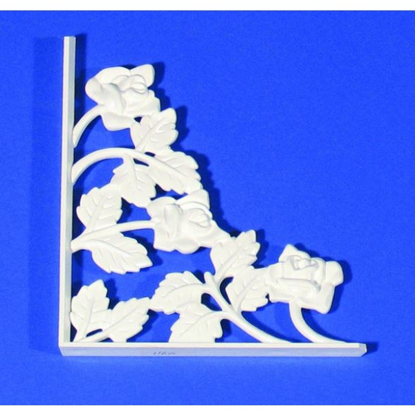 LMT 1160-WHITE Rose Scroll - Small Decorative Insert - White