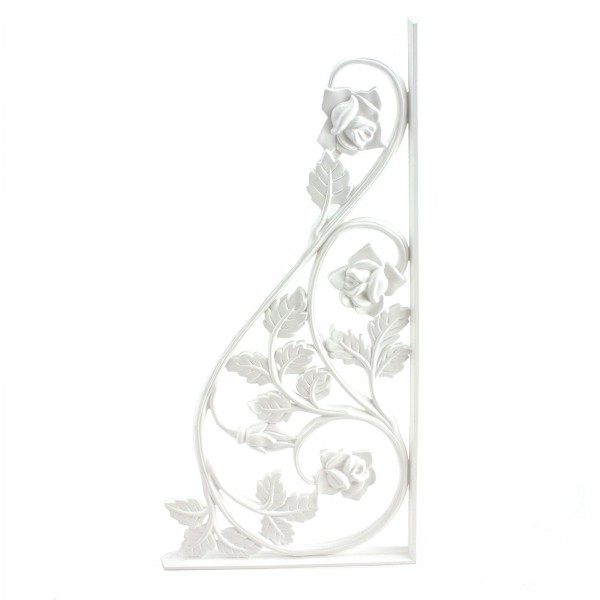 LMT 1161-WHITE Rose Scroll - Medium Decorative Insert - White