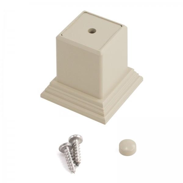 LMT 1254-ALMOND 2 Piece Foot Block Kit - Almond