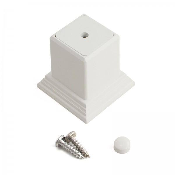 LMT 1254-WHITE 2 Piece Foot Block Kit - White