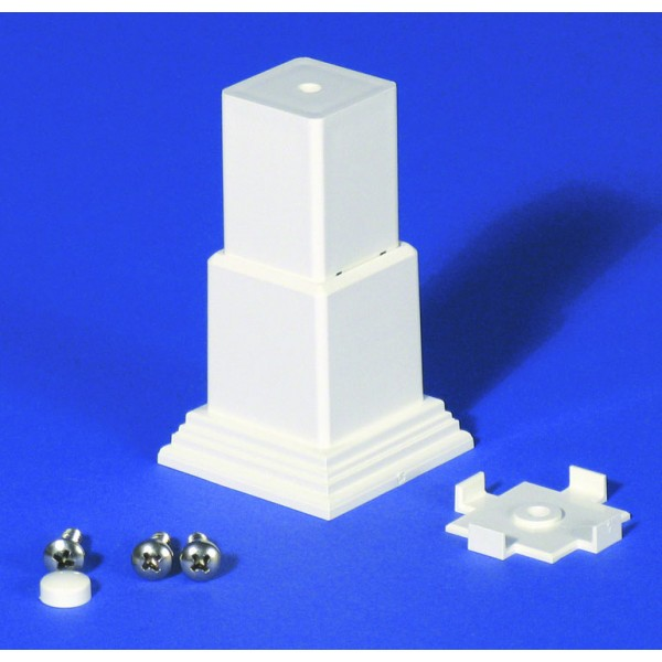 LMT 1255-WHITE 3 Piece Foot Block Kit with Mounting Plate - White