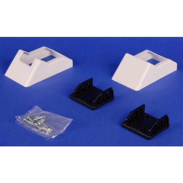 "LMT 1395-WHITE 2"" x 3 1/2"" Covered Handrail Bracket Kit (2 Piece) - White"
