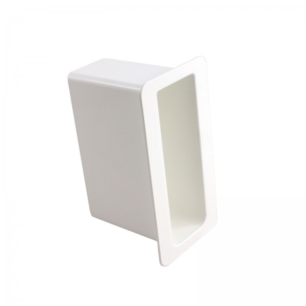 "LMT 1416-WHITE 1 3/4"" x 5 1/2"" x 4"" Gate Socket - White"