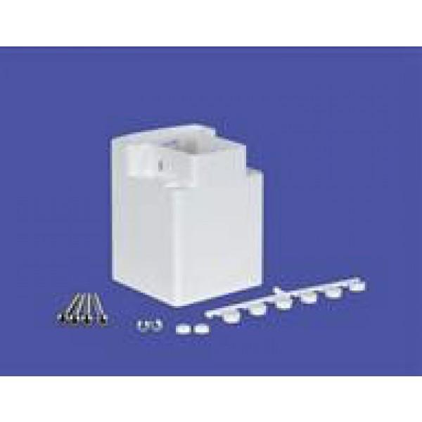 "LMT 1428-WHITE 4 3/4"" T-Rail Field Cut Handrail Bracket Kit - White"