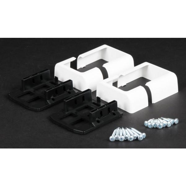 "LMT 1521-WHITE 2"" x 3 1/2"" Covered Bracket Kit (3 Piece) - White"