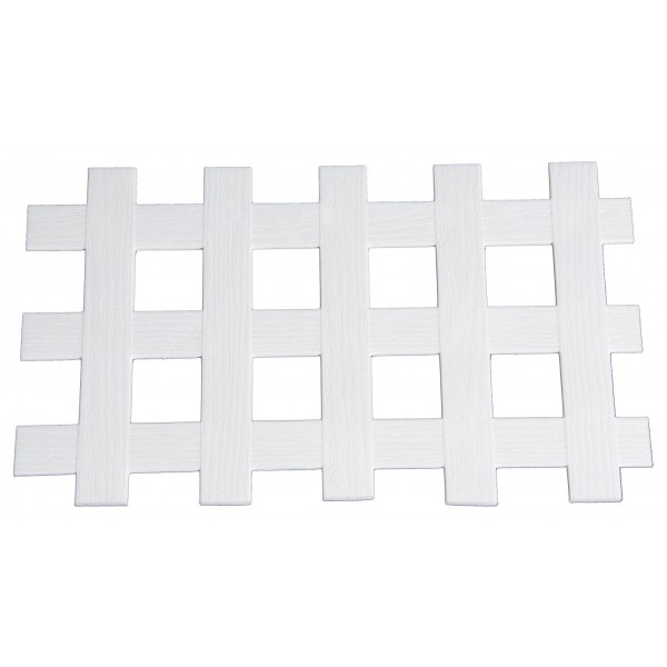 "LMT 1882W-12x96-240 12"" x 96"" 2D Standard Square Lattice (Wood Grain with 1-3/4"" Sq Opening) - White"