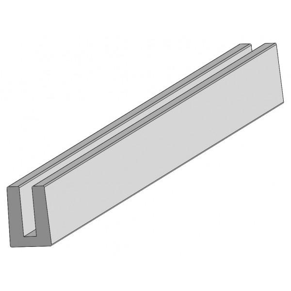 "LMT 1885W 2D Lattice U-Channel (96"") - White"