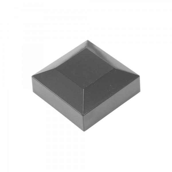 "2"" x 2"" Square Vinyl Post Cap For 2"" Aluminum Fence Post (Black)"