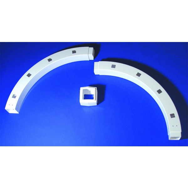 """4"""" Sq 180 Degree Routed Arch Kit with Keystone - LMT 5002"""