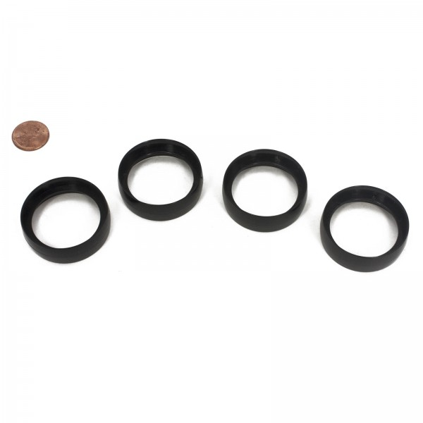 LMT 6009-BLACK Joint Ring (4 Pack) - Black (penny shown for scale)