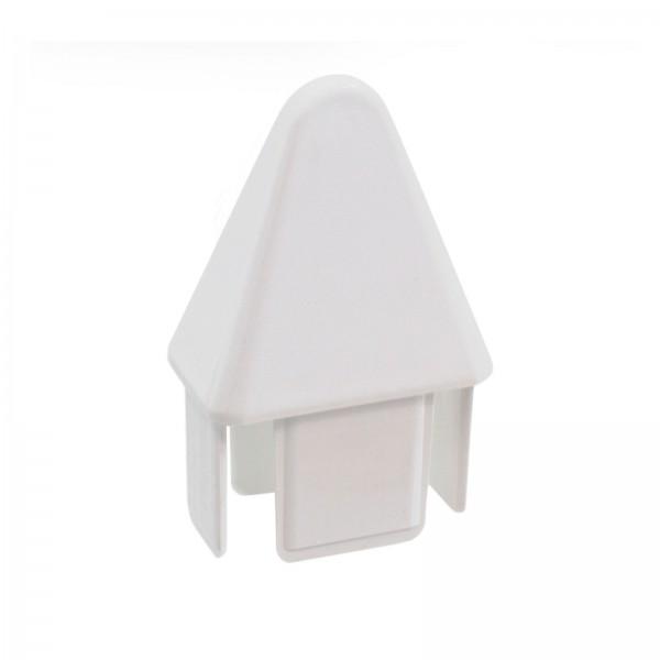 "LMT P-7815W 7/8"" x 1 1/2"" Sharp Vinyl Picket Cap (Spade) - White"