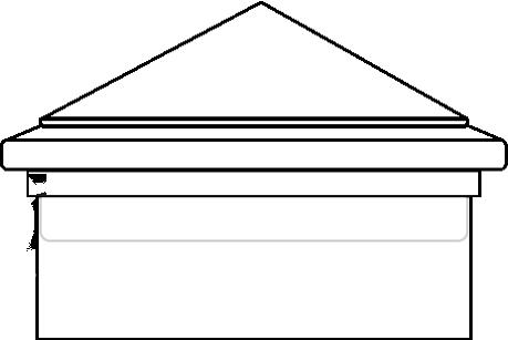 External Post Cap Installtion Example