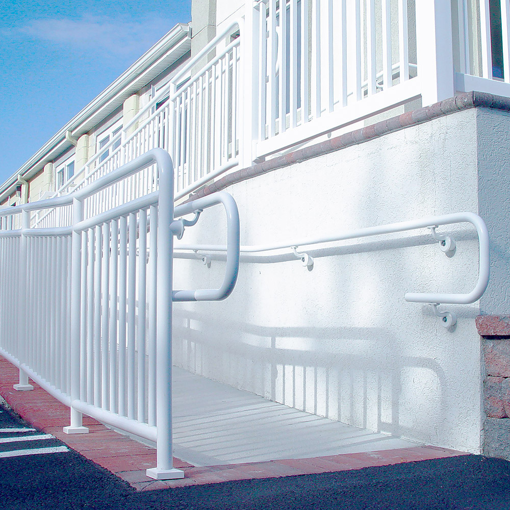 ADA Handicap Loop With Railing Installation