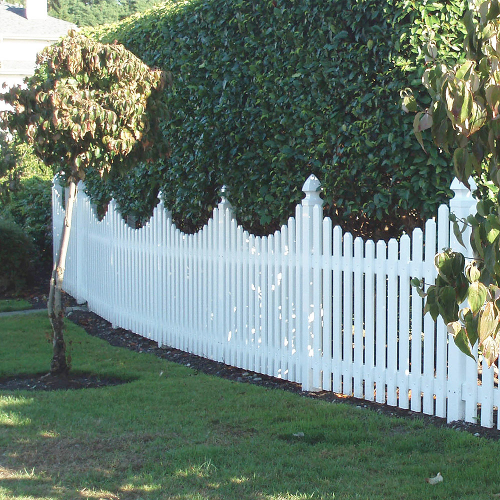 Gothic Post Cap Picket Fence Installation