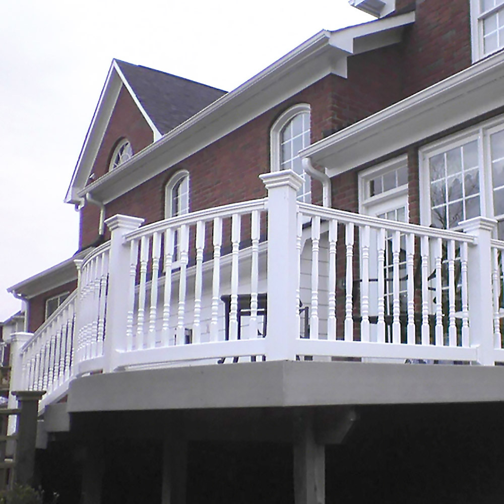 New England Post Cap With Colonial Spindles Installation