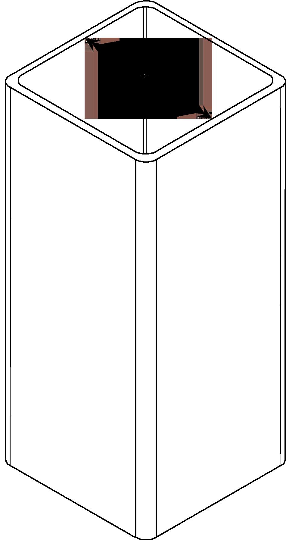Vinyl Post Internal Measurement Diagram