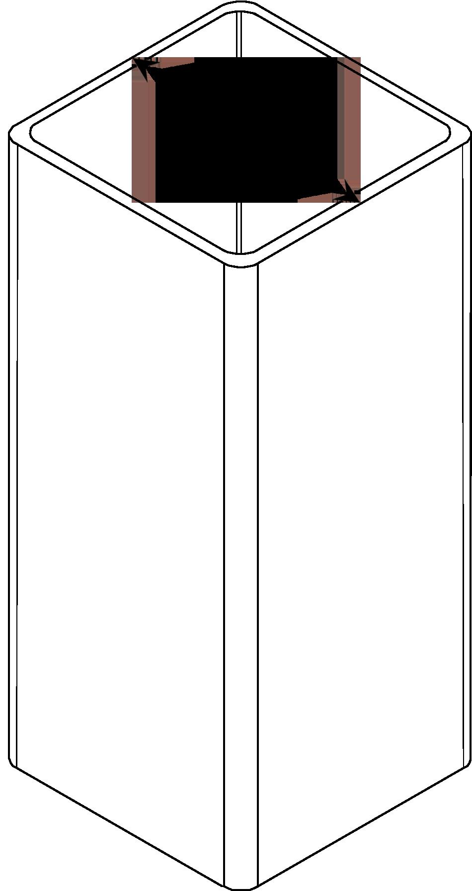 Vinyl Post External Measurement Diagram